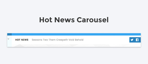 Hot news carousel