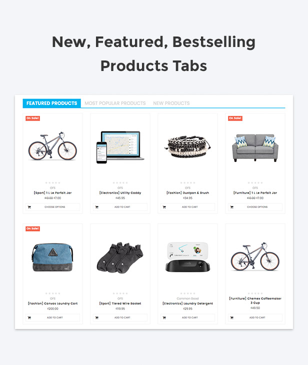 Special products tabs