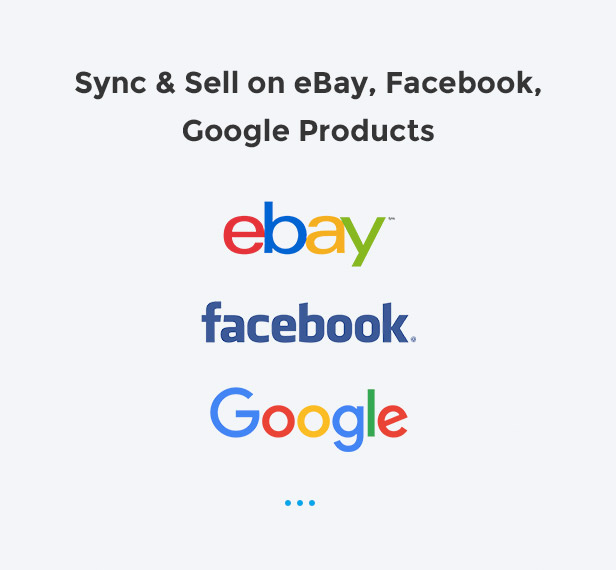 facil to sell with ebay, facebook, google products
