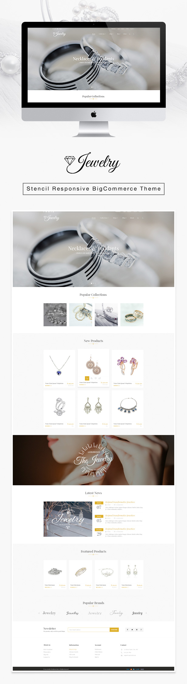 Jewelry Responsive Parallax BigCommerce Theme – Stencil Framework (BigCommerce)