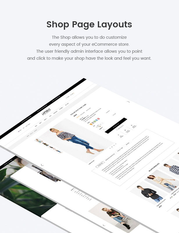 Shop pages beautiful designs