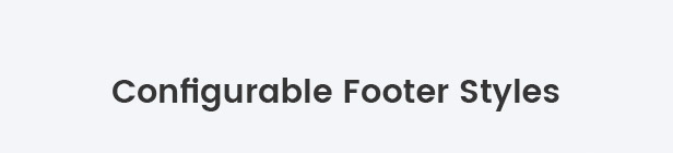 Configurable footer info