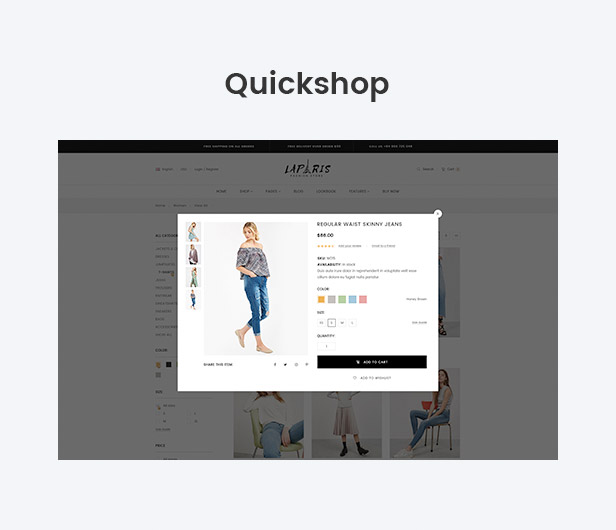 Quick view or Quick shop