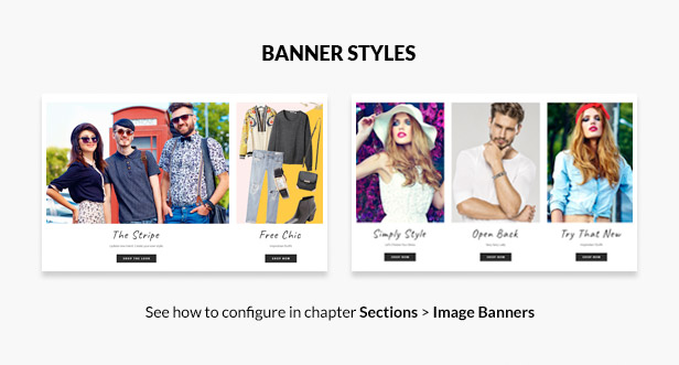 Various banners styles