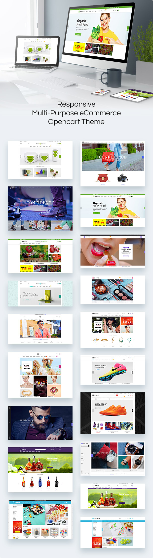 TotalStore OpenCart theme variations