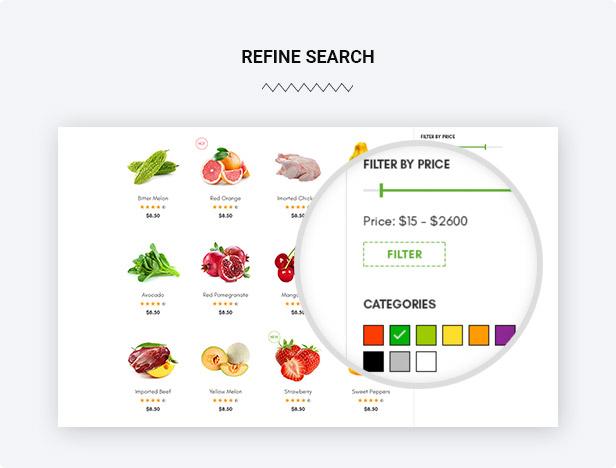 Refine search filter