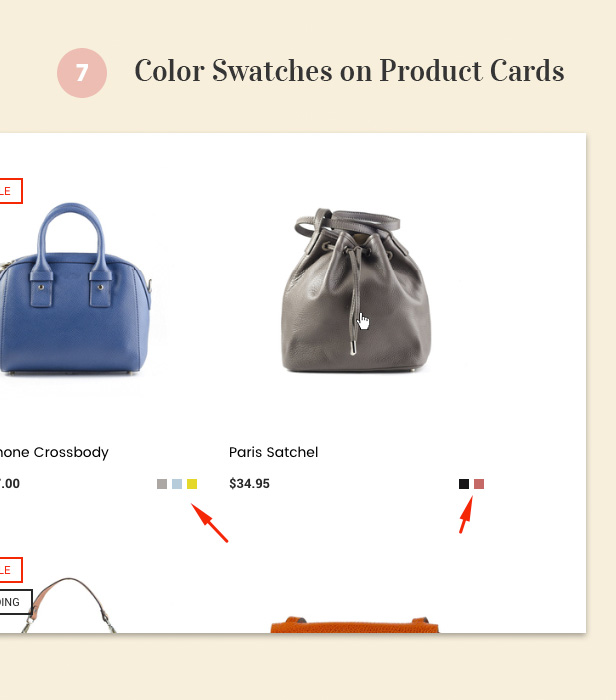 Color Swatches on Product Cards