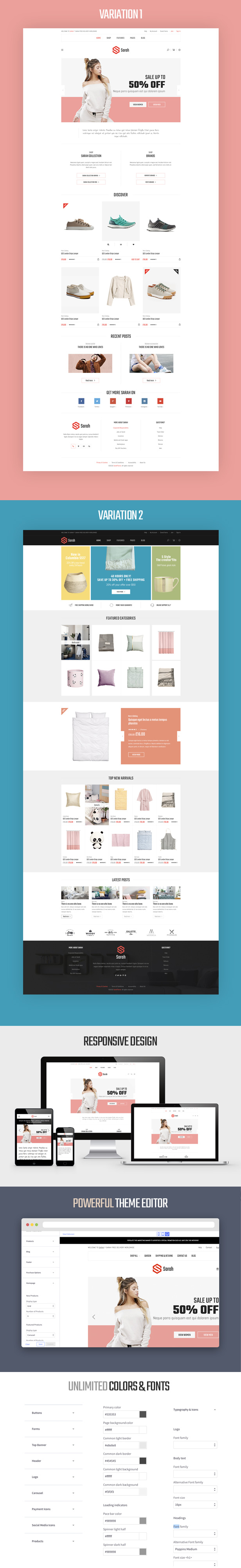 BigCommerce Theme SarahStore description