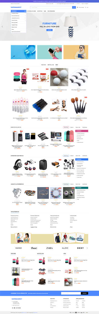 BigCommerce Supermarket Blue Theme Demo