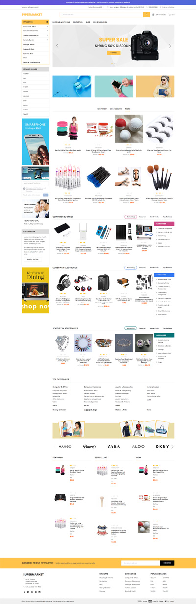 BigCommerce Supermarket Yellow Theme Demo