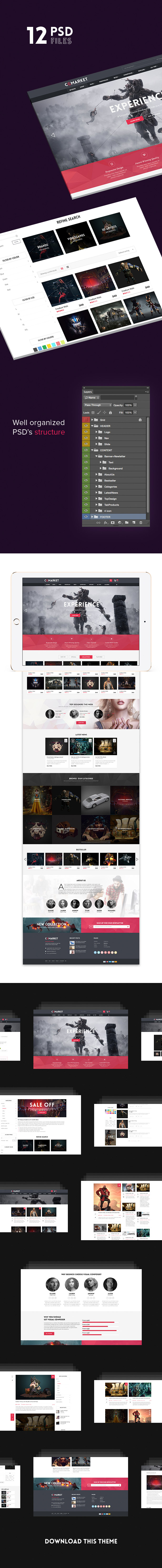 Dance CGMarket PSD Template for WordPress, Magento, OpenCart, PrestaShop, Shopify theme