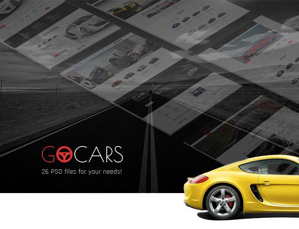Go Cars | PSD Template Car Dealers