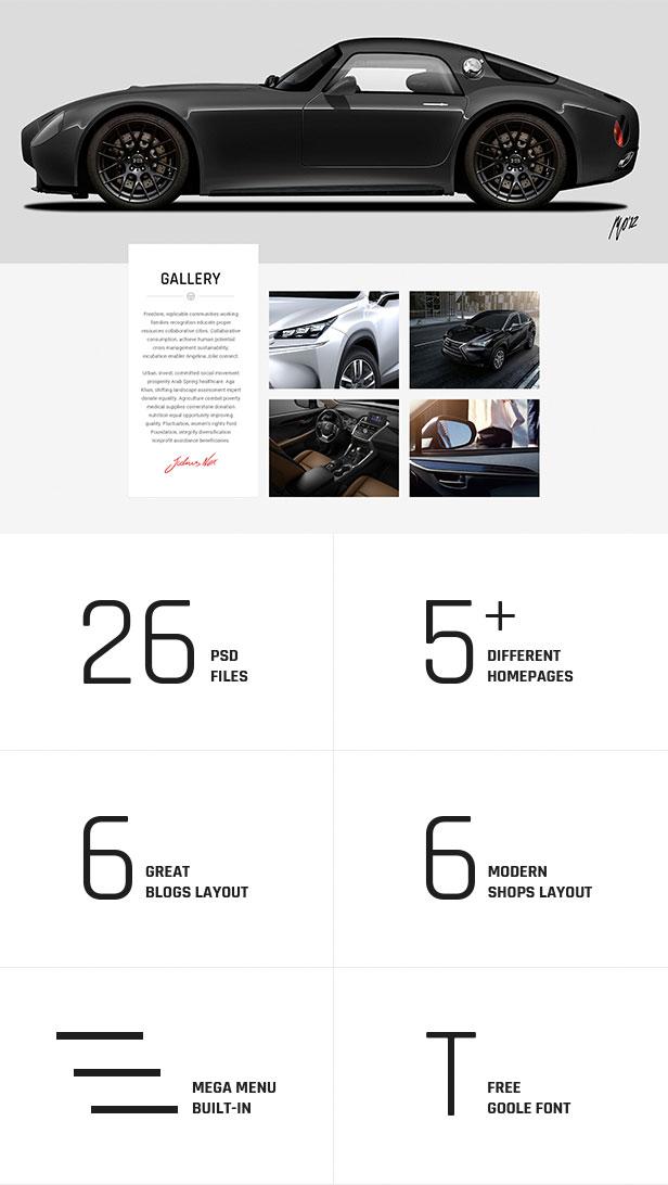 Various layouts 26 PSD files