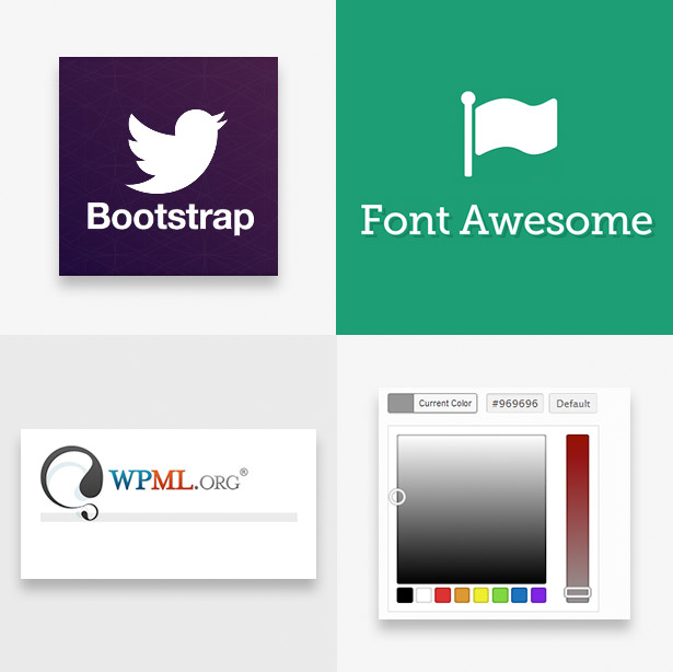 Bootstrap 3 & FontAwesome Icons