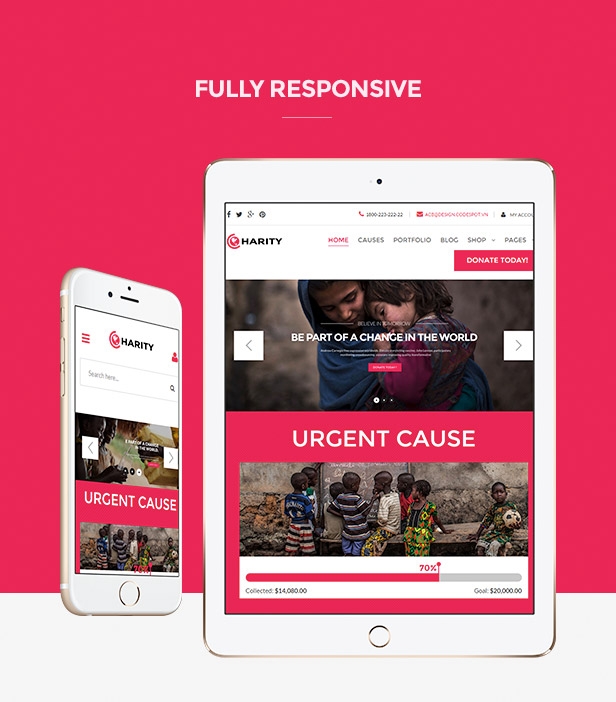 Charity HTML Template - Responsive Website Template