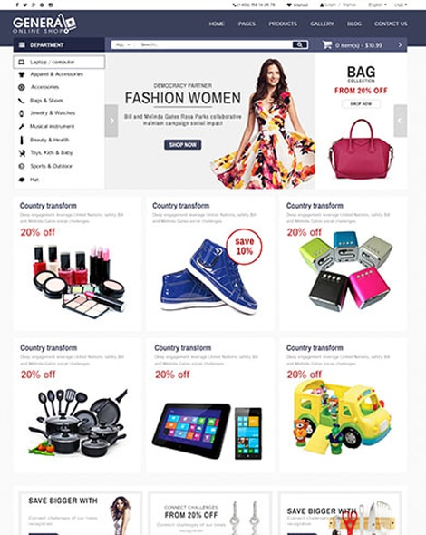 Mega Mall HTML Template