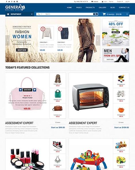 Online Market HTML Template
