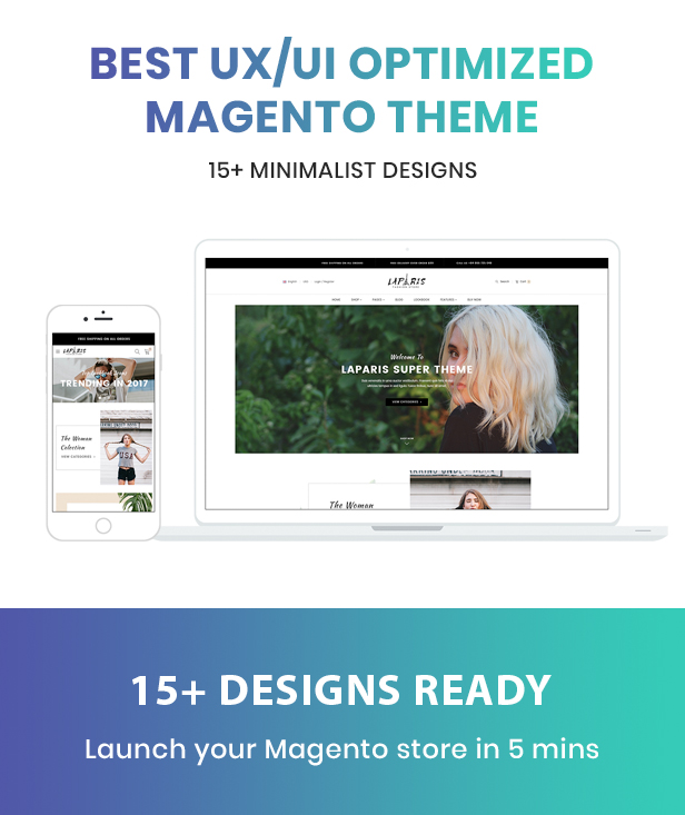 LaParis Magento Theme Preview