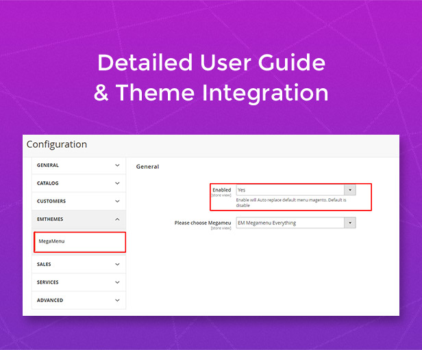 Detailed user guide & theme integration