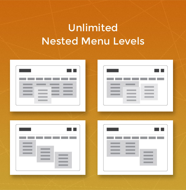 Unlimited nested menu levels