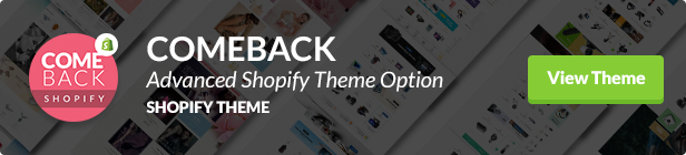 Comeback Shopify Theme